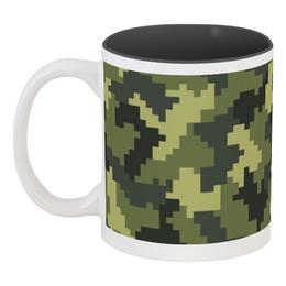 """Кружка цветная внутри """"Камуфляж"""" - 23 февраля, армия, камуфляж, военный, защитник отечества"""
