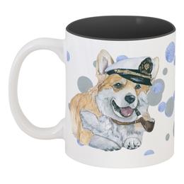 """Кружка цветная внутри """"Моя любимая собака"""" - новыйгод, корги, маленькая собака, вельшкорги"""