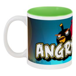 """Кружка цветная внутри """"Angry Birds"""" - games, игры, angry birds, энгри бёрдс, злые птици"""