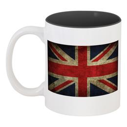 """Кружка цветная внутри """"Флаг Британии"""" - юмор, fun, англия"""