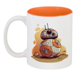 """Кружка цветная внутри """"Звездные Войны: ББ-8 / BB-8"""" - star wars, звездные войны, bb-8, бб-8, дроиды"""