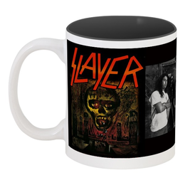 "Кружка цветная внутри ""Slayer-Season In The Abyss 1990"" - рок, чай, металл, slayer, thrash metal"