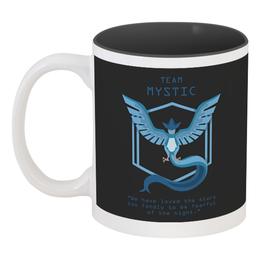"""Кружка цветная внутри """"Team Mystic"""" - мультфильм, pokemon, покемон, мистик, mystic"""