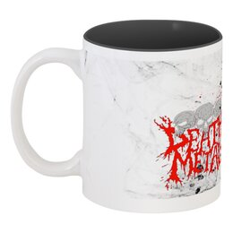 """Кружка цветная внутри """"Death metal"""" - готика, смерть, death metal, мистика, металл"""