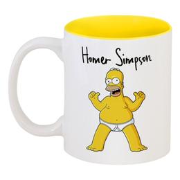 "Кружка цветная внутри ""Гомер Симпсон"" - гомер, симпсоны, гомер симпсон, the simpsons, барт симпсон"