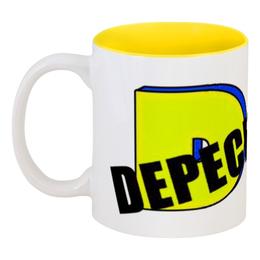 """Кружка цветная внутри """"Depeche Mode"""" - depeche mode, депеш мод, dm, dave gahan, martin gore"""