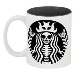 """Кружка цветная внутри """"hallobucks"""" - праздник, хэллоуин, скелет, интересная, необычная"""