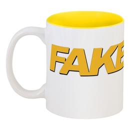 "Кружка цветная внутри ""Fake Taxi"" - рисунок, taxi, pornhub, faketaxi, fakehub"