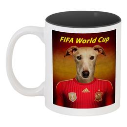 "Кружка цветная внутри ""FIFA World Cup"" - футбол, fifa, fifa fifa 2018, fifa 2018"