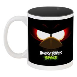 "Кружка цветная внутри ""Space (Angry Birds)"" - игры, space, мультфильм, птица, angry birds"