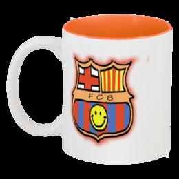 """Кружка цветная внутри """"Cesare-FC Batcelona 73"""" - чашка, крушка, barcelona, барселона, бокал"""