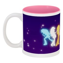 "Кружка цветная внутри ""My little pony"" - мультфильмы, my little pony"