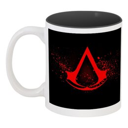 "Кружка цветная внутри ""Assassin's creed "" - symbol, assassin, assassin's creed, playstation, кредо ассасина, video game, ubisoft, xbox 360"