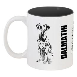 """Кружка цветная внутри """"DАLMATIN"""" - собака, собаки, далматин, далматинец, dalmatin"""