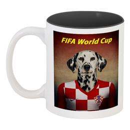 """Кружка цветная внутри """"FIFA World Cup"""" - футбол, fifa"""