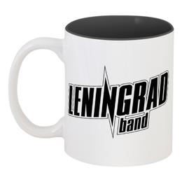 """Кружка цветная внутри """"Leningrad"""" - band, группа, ленинград, шнур, группировка"""