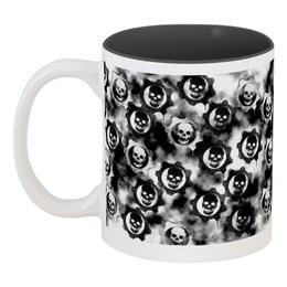"""Кружка цветная внутри """"Skull Design"""" - skull, череп, скелет, символ, арт дизайн"""