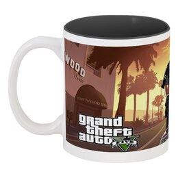 """Кружка цветная внутри """"Grand Theft Auto 5"""" - gta5, гта 5"""