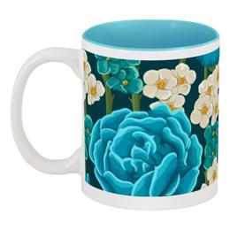 """Кружка цветная внутри """"Красивые цветы"""" - цветы, природа, красиво, ярко, красивые цветы"""