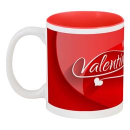 """Кружка цветная внутри """"Сердечки"""" - любовь, день святого валентина, сердечки, подарки, день влюблённых"""