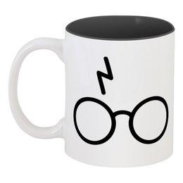 """Кружка цветная внутри """"Гарри Поттер"""" - гарри поттер"""