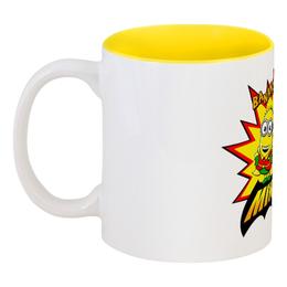 """Кружка цветная внутри """"Банана"""" - банана, бэтмен, гадкий я, комиксы, миньоны"""