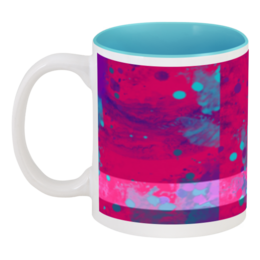 """Кружка цветная внутри """"Дождь в мае"""" - стиль, рисунок, в подарок, оригинально, креативно"""