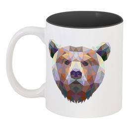 """Кружка цветная внутри """"Русский медведь"""" - bear, медведь, русский медведь"""