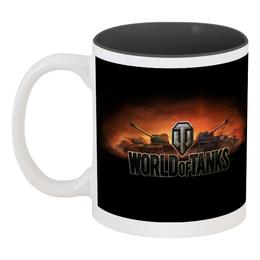 """Кружка цветная внутри """"Word of Tanks"""" - игра, танк, wot, tanks, word of tanks"""