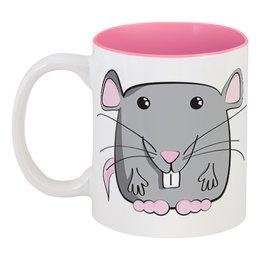 "Кружка цветная внутри ""Мышь (Крыса)"" - новый год, мышь, крыса, год крысы, 2020 год"
