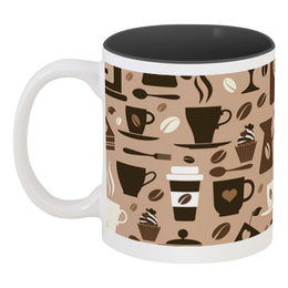 """Кружка цветная внутри """"Кофейная"""" - чашка, рисунок, сладости, чай, кофе"""