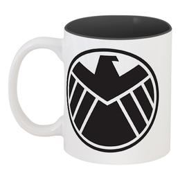 """Кружка цветная внутри """"Agents of s.h.i.e.l.d"""" - щит, shield, фил колсон"""