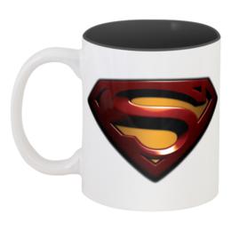 """Кружка цветная внутри """"Супер кружка"""" - superman, кружка, фильмы"""