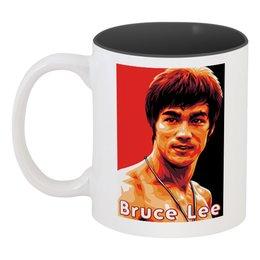 """Кружка цветная внутри """"Брюс Ли"""" - bruce lee"""