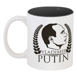 """Кружка цветная внутри """"Vladimir Putin"""" - россия, russia, путин, президент, president"""