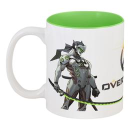 """Кружка цветная внутри """"Overwatch """" - overwatch, овервотч, overwatch овервотч жнец reaper, овервотч ханзо, овервотч гэнзи"""