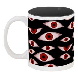 "Кружка цветная внутри ""Глаза"" - хеллоуин, vampire, вампир, hellsing, хеллсинг"