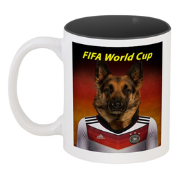 "Кружка цветная внутри ""FIFA World Cup"" - футбол, fifa, fifa 2018"