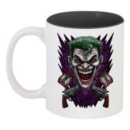 """Кружка цветная внутри """"Джокер"""" - joker, джокер"""