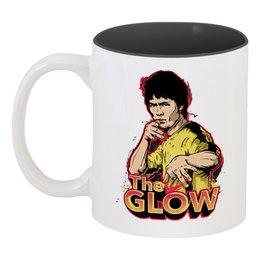 """Кружка цветная внутри """"Брюс Ли (The GLOW)"""" - bruce lee, the glow"""