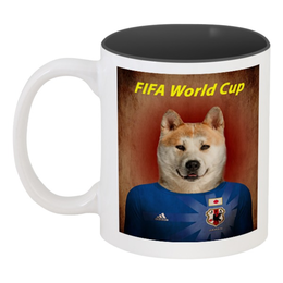 """Кружка цветная внутри """"FIFA World Cup"""" - футбол, fifa, япония, japan, fifa 2018"""