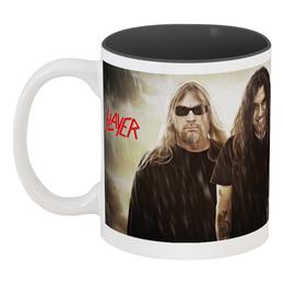 """Кружка цветная внутри """"Slayer 2012"""" - музыка, чай, металл, slayer, thrash metal"""