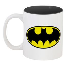 """Кружка цветная внутри """"Batman"""" - comics, batman, бэтмен, супергерой, dc"""
