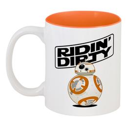 """Кружка цветная внутри """"Sphero's Star Wars BB-8 Droid"""" - арт, star wars, звездные войны, the force awakens"""
