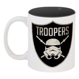 """Кружка цветная внутри """"Солдат-клон"""" - star wars, солдат-клон, clone trooper, звёздные войны"""