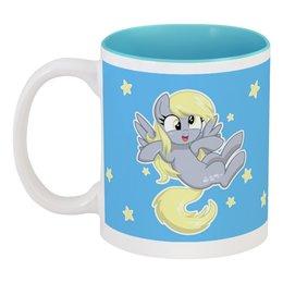 """Кружка цветная внутри """"My little pony (Derpy)"""" - мультфильм, mlp, derpy, для детей, мой маленький пони"""