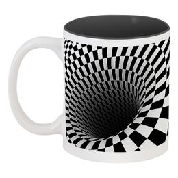 """Кружка цветная внутри """"3D эффект"""" - дизайн, абстракция, сувенир, эксклюзив, 3d эффект"""