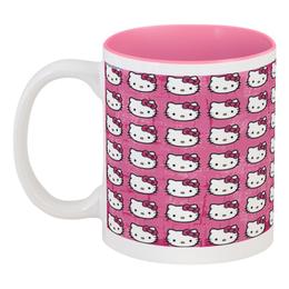 """Кружка цветная внутри """" Hello Kitty!"""" - hello kitty, розовая, хеллоу китти"""