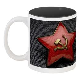 """Кружка цветная внутри """"На 23 февраля мужчинам"""" - праздник, 23 февраля, подарок, день защитника отечества, милитари"""