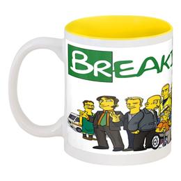 """Кружка цветная внутри """"Breakink Bad"""" - арт, прикольные, в подарок, оригинально, кружка, креативно"""